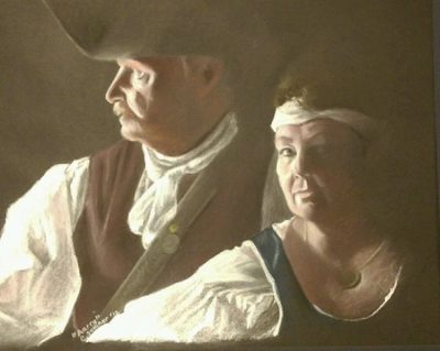 Portrait Painting with Carolina