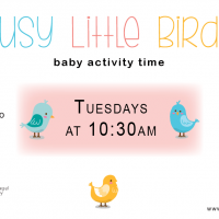 Busy Little Birds Baby Story Time, ages 0 - 3 | Arthur Hufnagel Public Library of Glen Rock