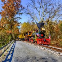 Fall Foliage Glen Rock Express with No.17
