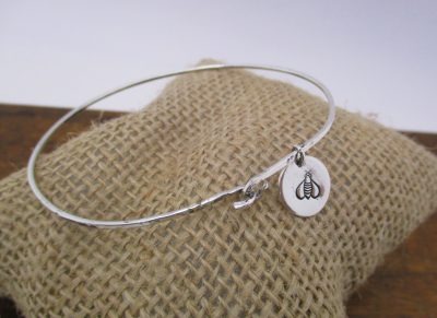 STERLING SILVER BANGLE WITH CHARM CLASS, 1/18/20, ...
