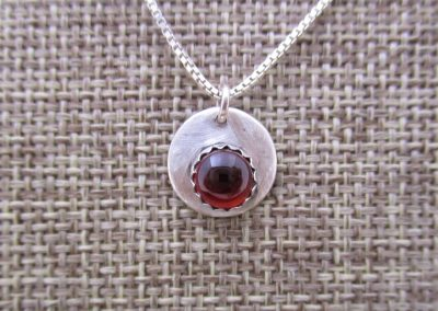STERLING SILVER JAN.-FEB. BIRTHSTONE PENDANT WITH ...