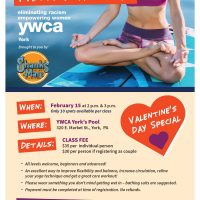 YWCA York Paddle Board Yoga Valentine's Day Special