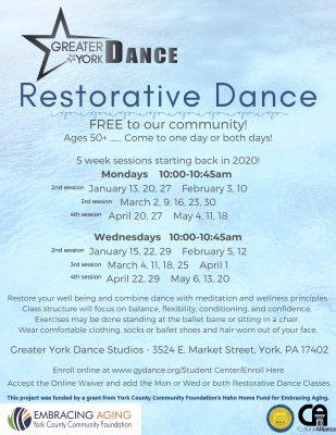 CANCELLED THRU MARCH 29 Restorative Dance