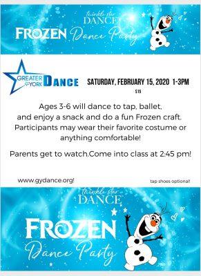 Greater York Dance Frozen Dance Party