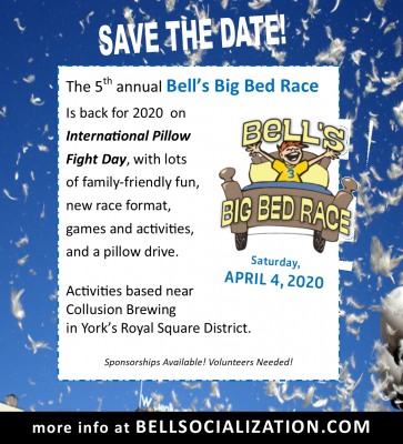 (CANCELED) Fifth Annual Bell's Big Bed Race