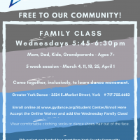 CANCELLED THRU MARCH 29 Family Dance Class