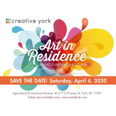 """Creative York's """"Art In Residence"""" Spring Fundraising Gala-New Date!"""