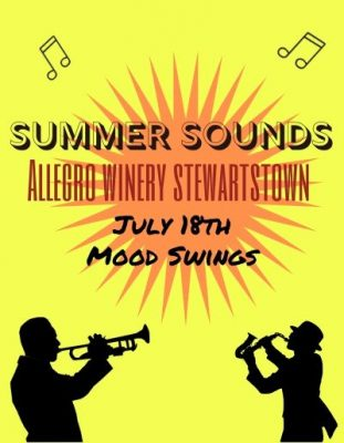 Allegro Winery Stewartstown's Summer Sounds with Mood Swings
