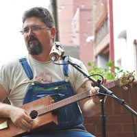 Shane Speal's Snake Oil Band outdoor concert at 3 Hogs BBQ