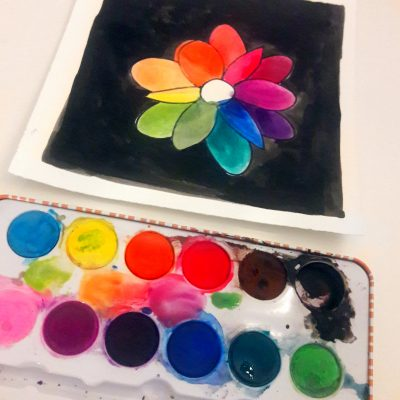 Art with Me Online: Color Wheel Flowers