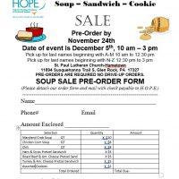 H.O.P.E.'s Soup-Sandwich-Cookie