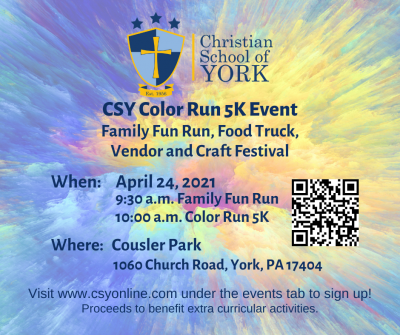 Christian School of York's Color Run 5K 2021