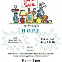 Yard Sale to benefit H.O.P.E.
